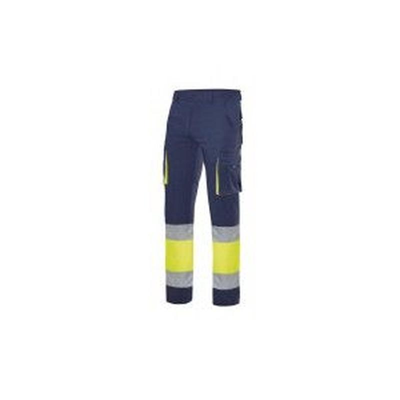Serie 303002S / Pantalón stretch bicolor multibolsillos alta visibilidad: Nuestros productos  de ProlaborMadrid