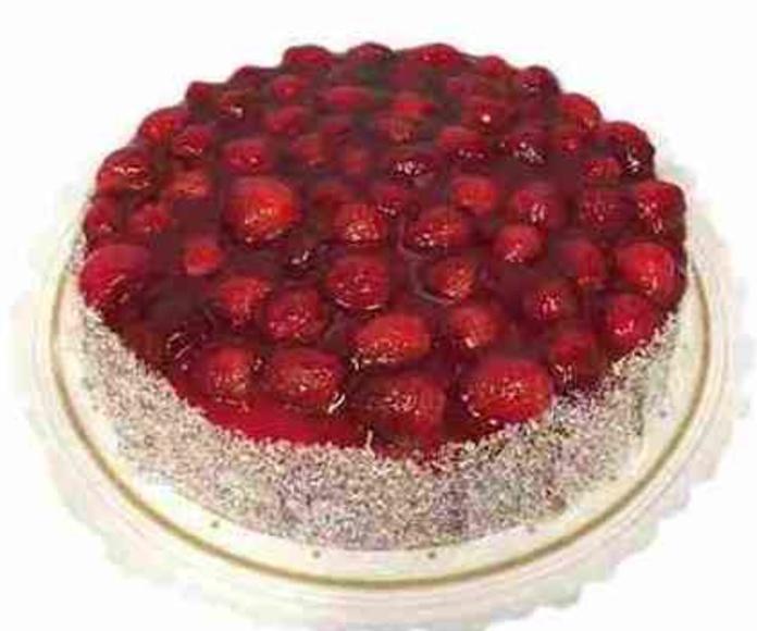 Tarta fresa y coco: Catálogo de Regalos de Floresdalia.com