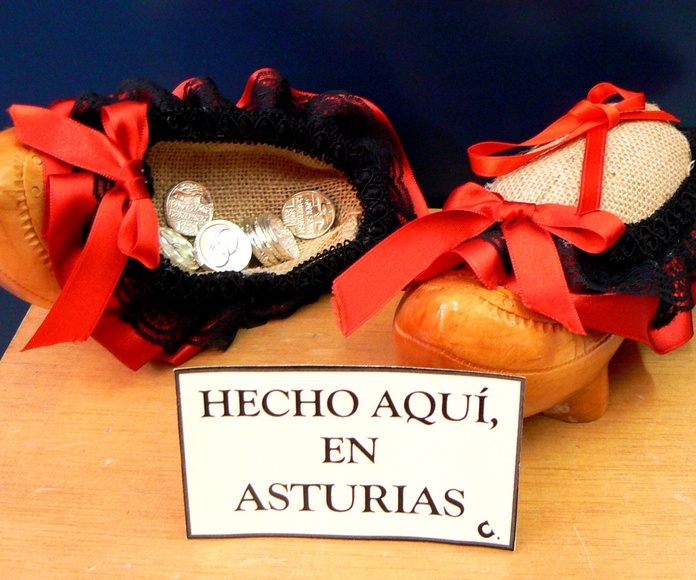 """Madreñas para aros y arras """"hecho en asturias"""""""