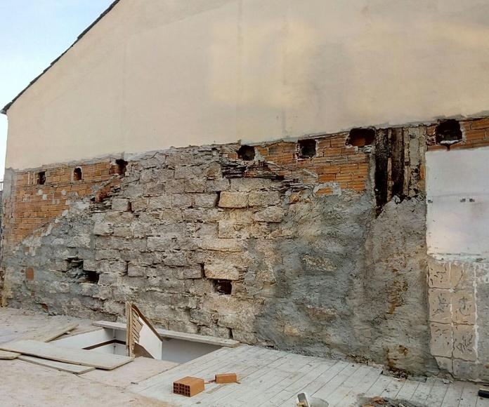 Demolición de edificación entre medianeras en Camiño Real 98. Lugo