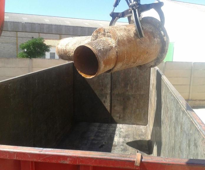 recogida de chatarra con camion pulpo en Albacete. Chatarras Clemente