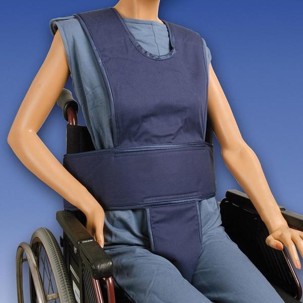 Chaleco abdominal con soporte perineal y tirantes