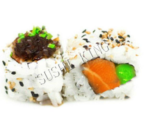 22.  SALMON TARTAR URAMAKI: Carta de Sushi King Restaurante
