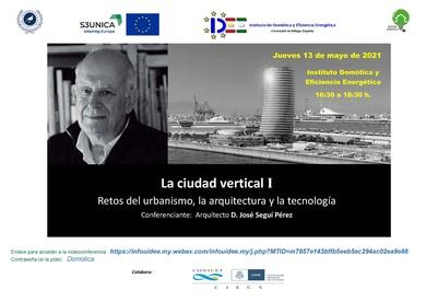 """Conferencia  Online """"La ciudad vertical I, 13 de mayo 2021"""