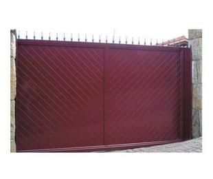 Puertas de aluminio soldado