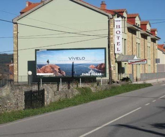 Valla publicitaria 8x3 mts.