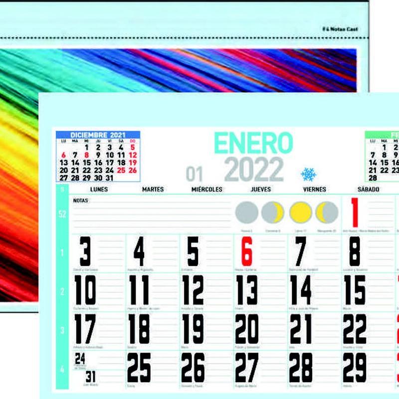 Mensual Notas: Nuestros Productos de Gráficas Kalendex
