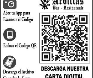 Carta completa Bar - Restaurante Arbillas para descargar