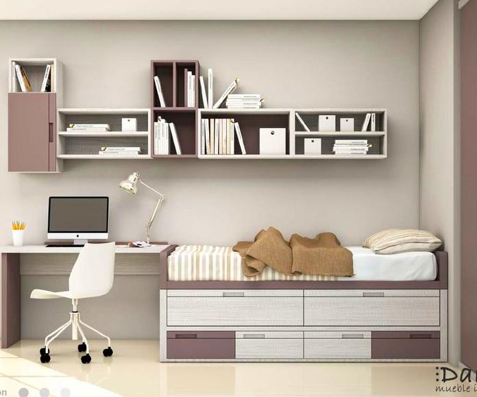 Dormitorio juvenil composición 13