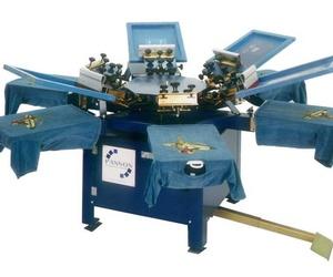 Maquinaria para serigrafía textil manual