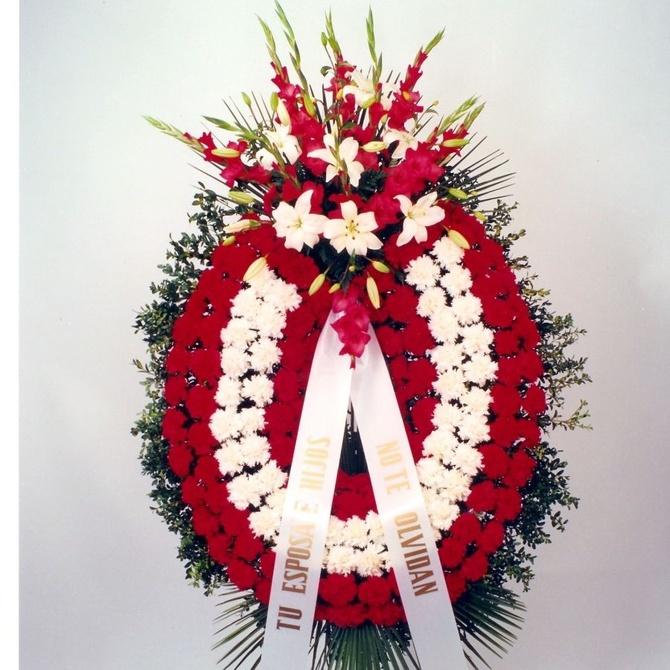 Las palabras adecuadas para acompañar una corona funeraria