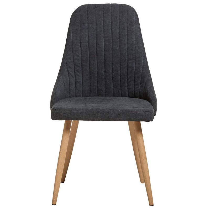 Silla tapizada gris oscuro en muebles Sagunto
