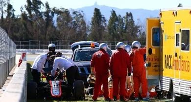 Alonso Hospitalizado tras el accidente en Montmeló