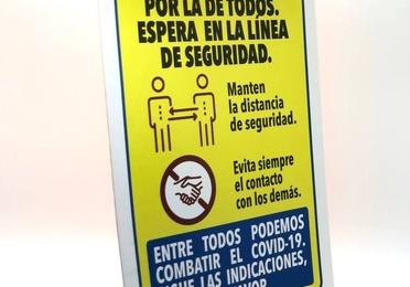 """Pancarta """"Distancia de seguridad"""" 20x29cm"""