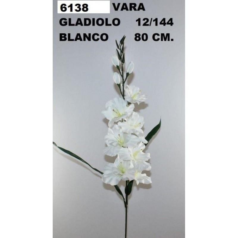 VARA DE GLADIOLO (80CM) COLOR:BLANCO REF.:6138 PRECIO: 1,25 €