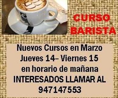 NO TE PIERDAS LOS PRÓXIMOS CURSOS DE BARISTA 14 y 15 DE MARZO