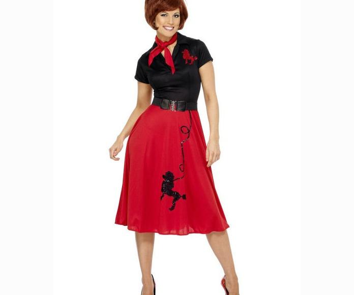 Disfraz mujer años '50
