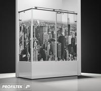 Mampara de baño Profiltek serie Steel mod.ST-101 Classic decoración cosmopolita