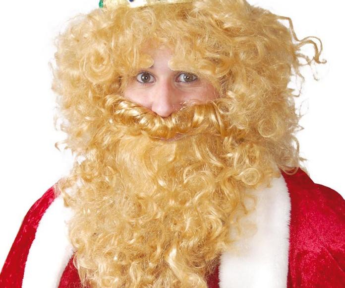 Peluca y barba rubia
