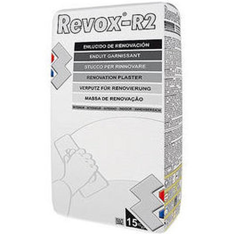 R-2 Revox Enlucido de Renovación en tienda de pinturas en ciudad lineal.