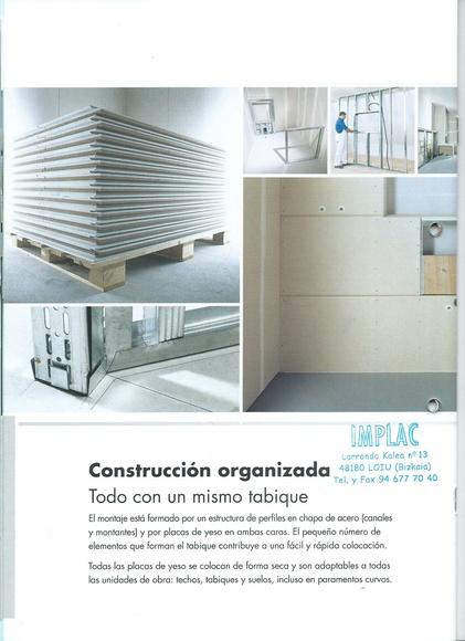 Tabiques pladur, construcción organizada