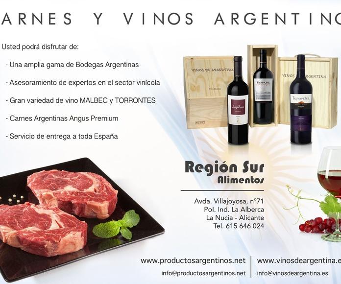 Carnes y vinos argentinos