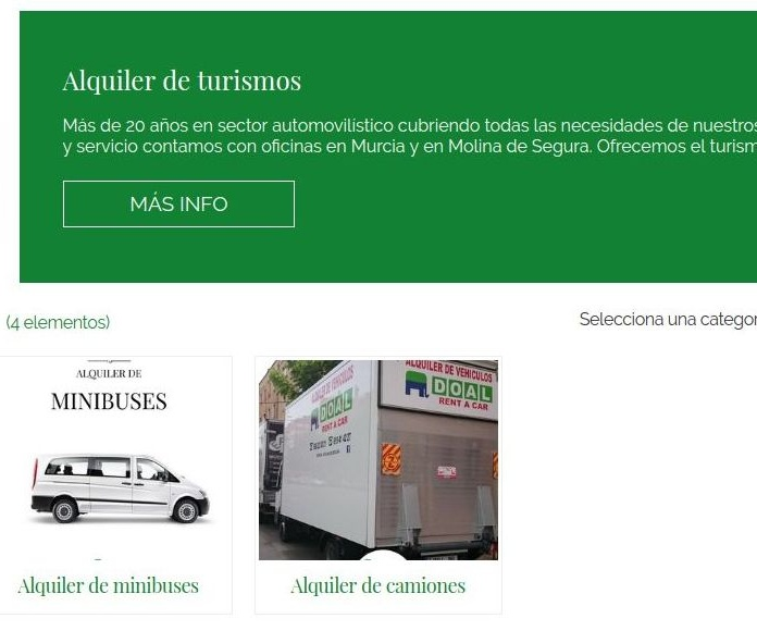 Alquiler de vehiculos: Servicios de DOAL Rent a Car