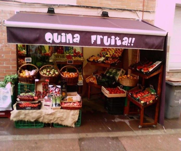 """Frutería """"Quina Fruita!!"""" de la C. Jaume Abril en Viladecans"""