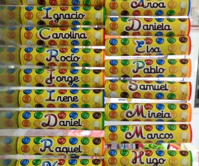 Chocolatinas personalizadas: Productos y servicios de Dulces PK2