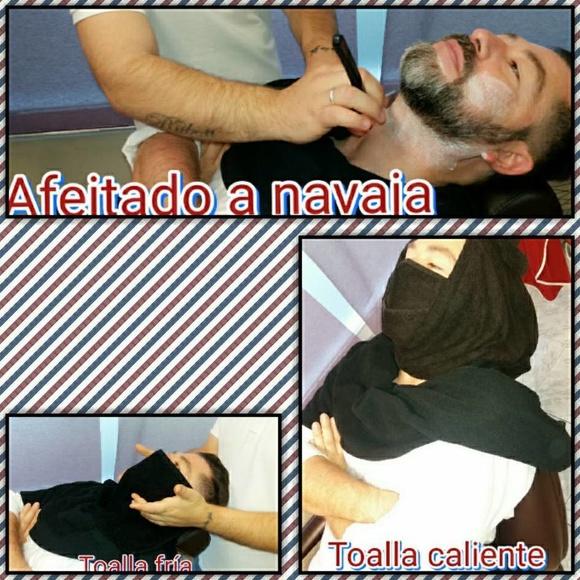 Afeitado a navaja con toalla aromatizada: Productos y servicios de Peluquería Barbería Fco Guerrero