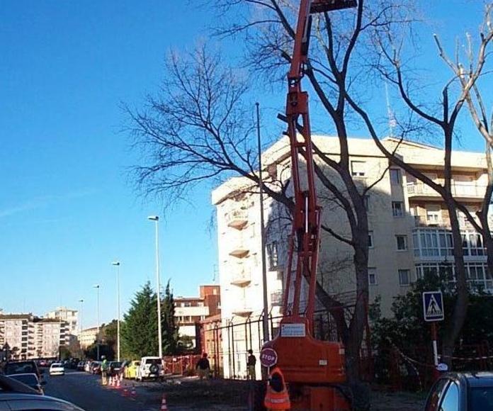 Trabajos con plataformas elevadoras en Santander-Torrelavega