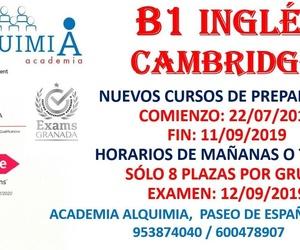 CURSO B1 INGLES CAMBRIDGE. (Examen 12/09/2019)