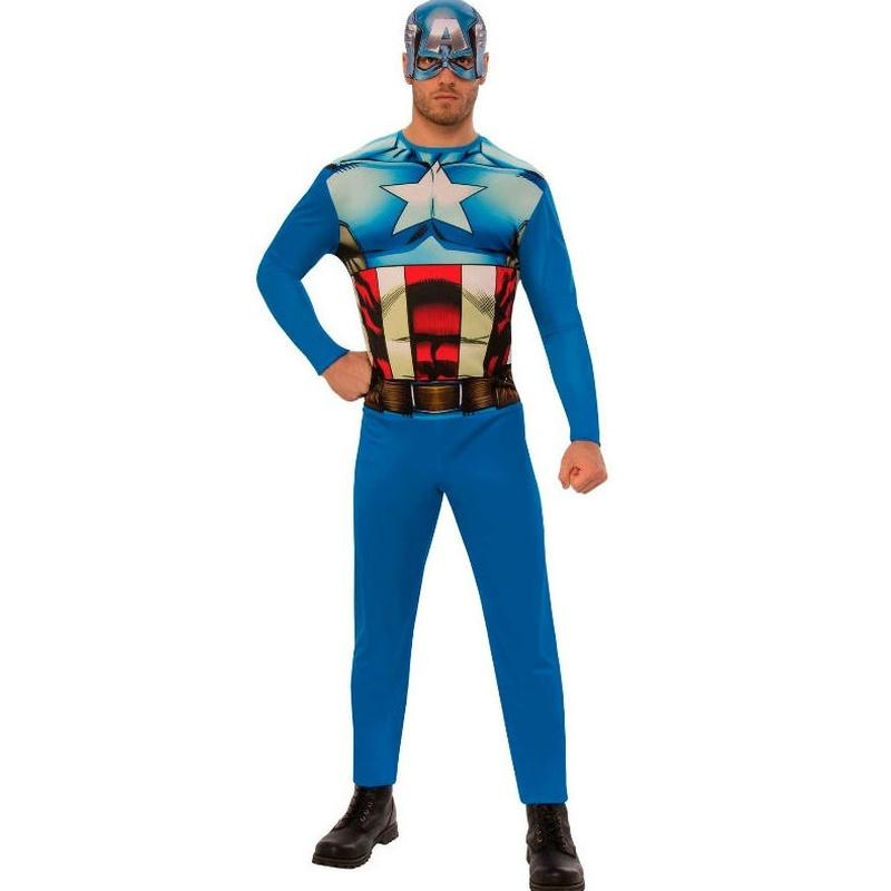 Disfraz Capitán América adulto