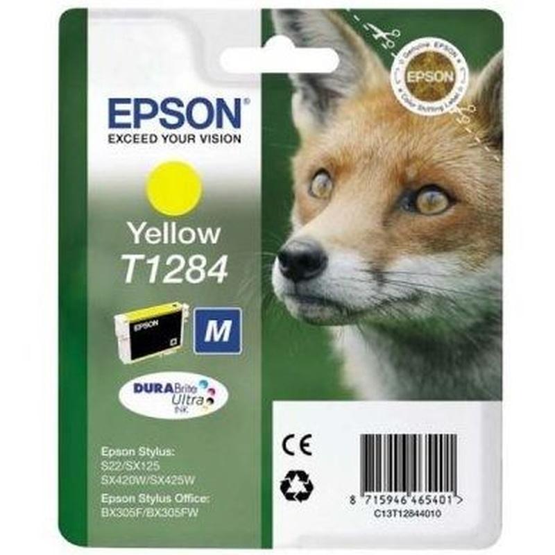 EPSON Cartucho T1284 Amarillo SX230/SX420/SX430 : Productos y Servicios de Stylepc