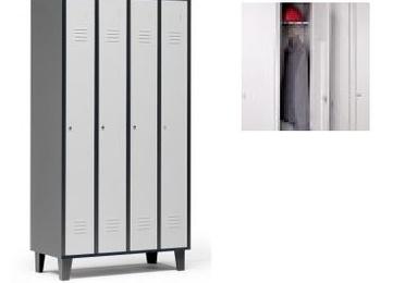 taquilla de 4 puertas en bicolor gris