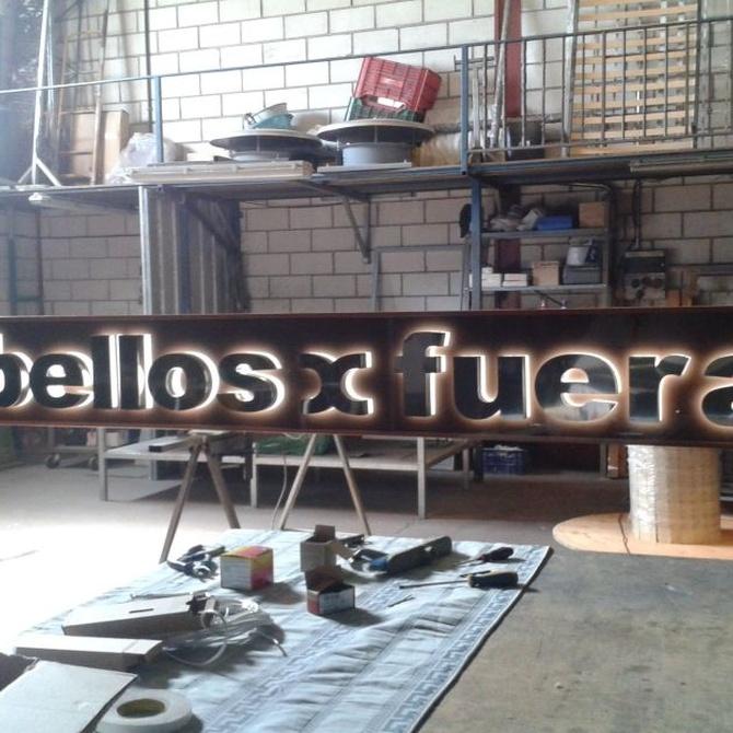 La tipografía de las letras corpóreas