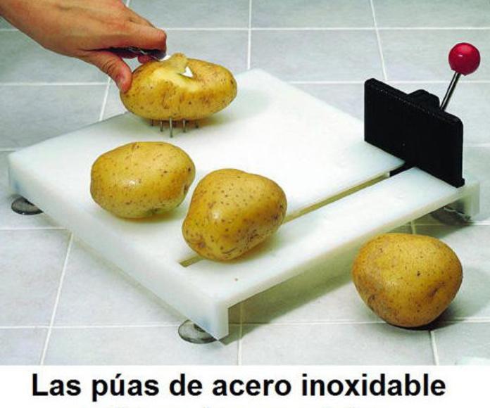 Tabla de preparación de alimentos para una mano