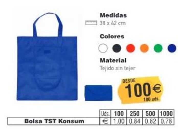 BOLSAS TST KONSUM 38X42CMS: TIENDA ON LINE de Seriprint Serigrafia