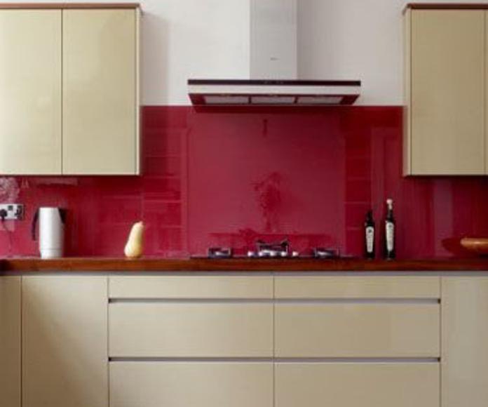 Frontal de cocina de cristal