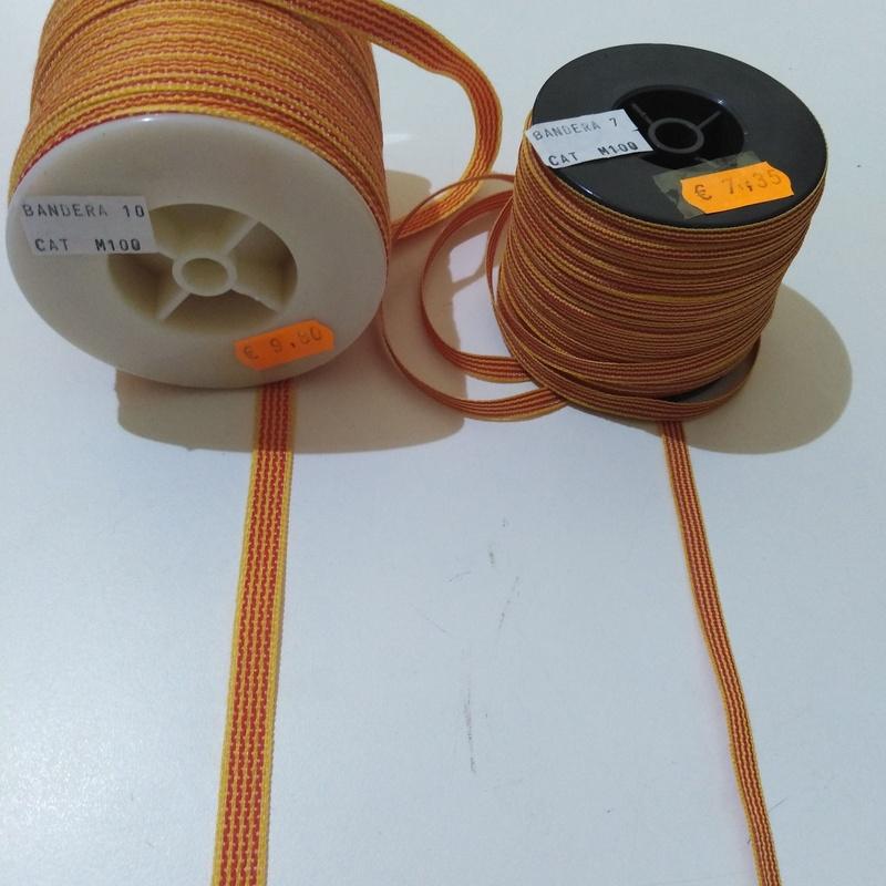 Cinta Textil: 7 mm. x 100 m. PRECIO:7,35 € - 10  mm. x 100 m. PRECIO:9,80 €
