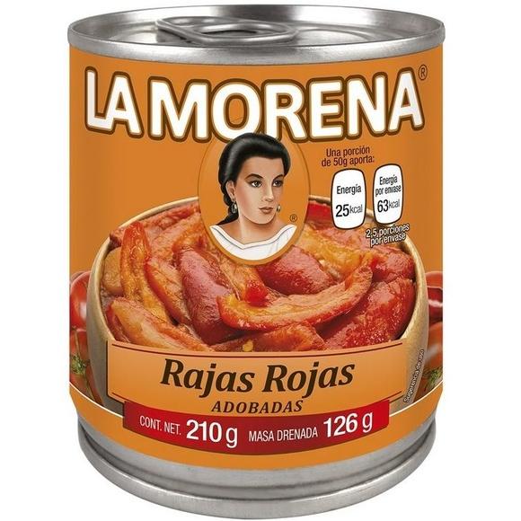 Rajas rojas adobadas La Morena : PRODUCTOS de La Cabaña 5 continentes