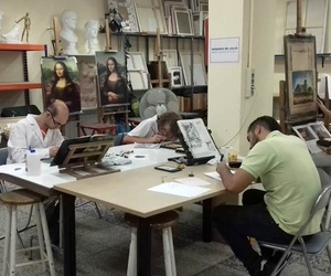 Alumnos trabajando