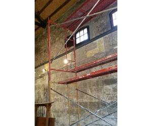 Proceso de pintura de capilla