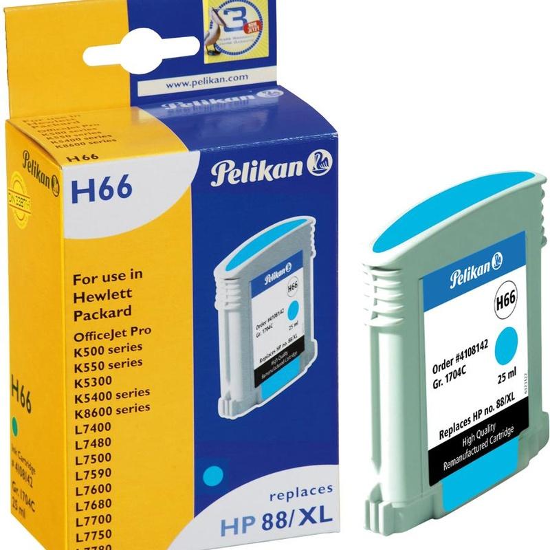Cartucho HP88XL Cian PELIKAN Gr.1704C