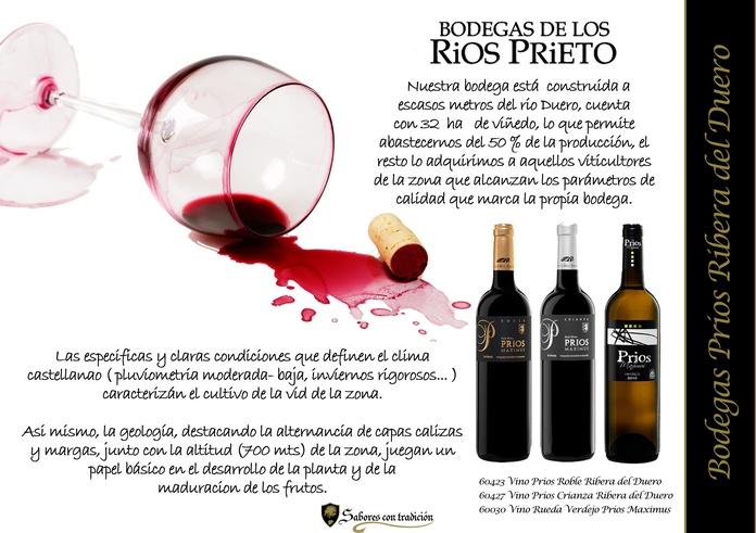 """Vinos """" Bodega de los Rios Prieto """": Productos de Sabores con tradición"""