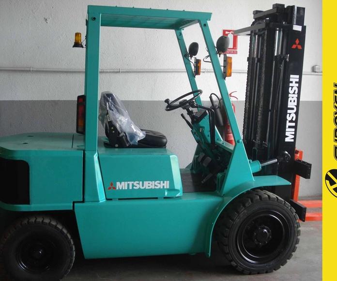 Carretilla diesel MITSUBISHI Nº 5840: Productos y servicios de Comercial Euroyen, S. L.