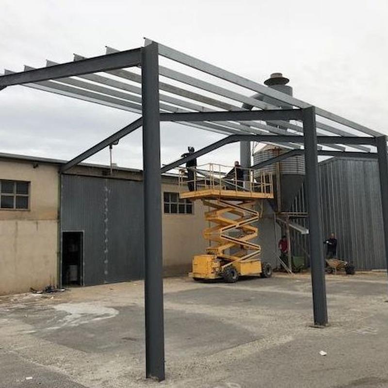 CONSTRUCCION ALMACEN CON ESTRUCTURA METALICA: Servicios de Hierros Delta