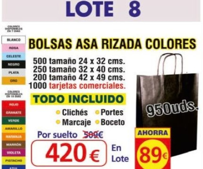 BOLSA ASA RIZADA COLORES 950 UNDS: TIENDA ON LINE de Seriprint