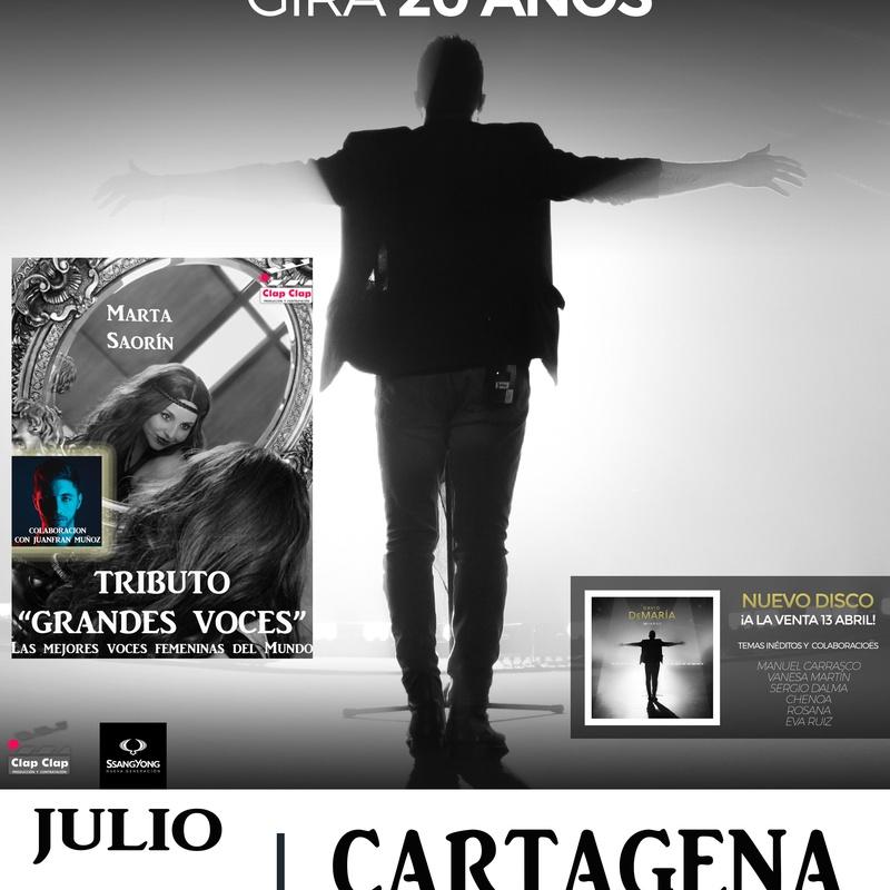 David de María en Santa Lucía, Cartagena: Catálogo de actuaciones de ESPECTÁCULOS CLAP CLAP PRODUCCIONES, MÚSICA, TEATRO Y MUCHO MÁS