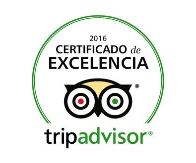 Certificado de excelencia Trip Advisor